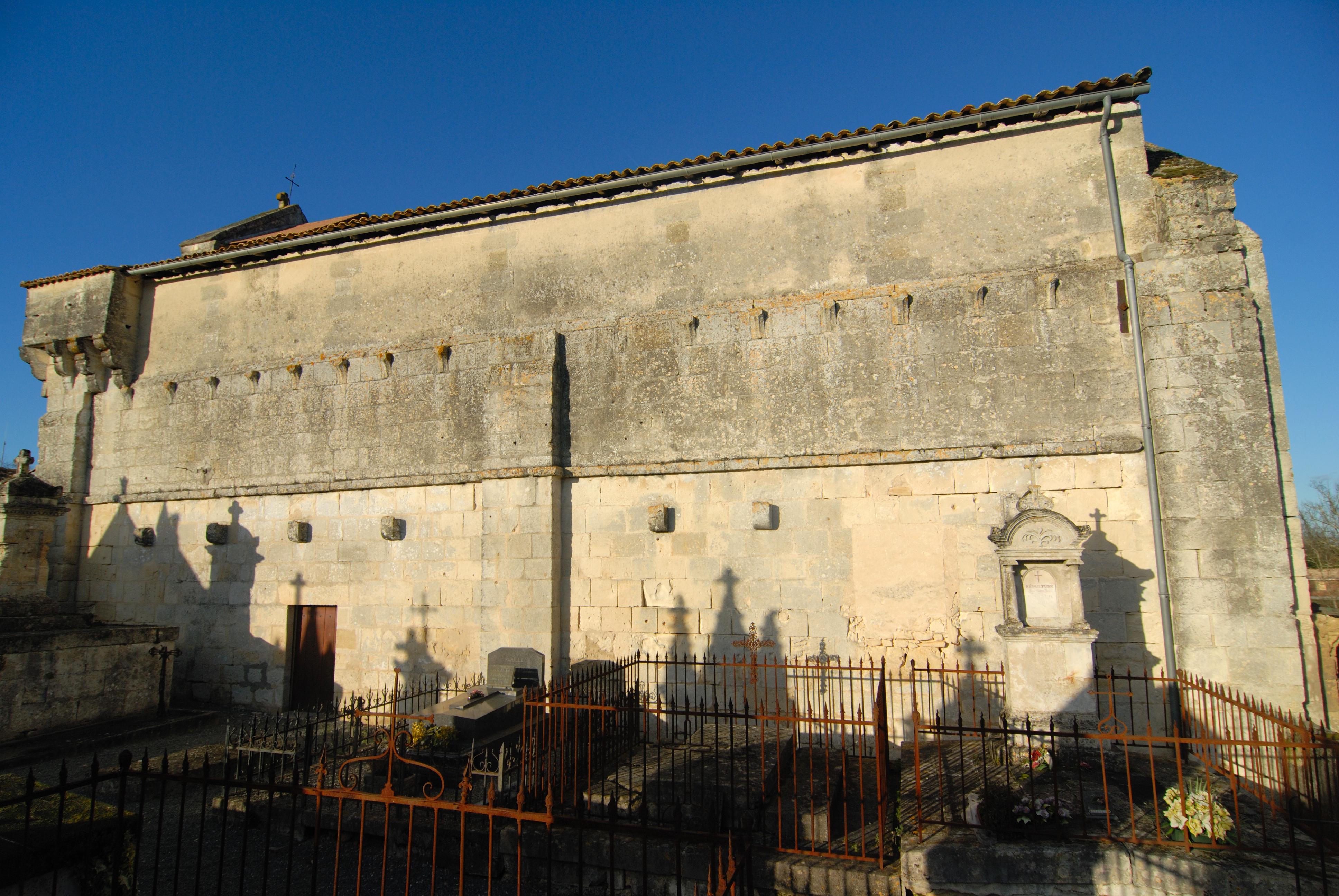 Eglise Marcenais mur sud