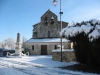 Eglise Marcenais sous la neige en 2007