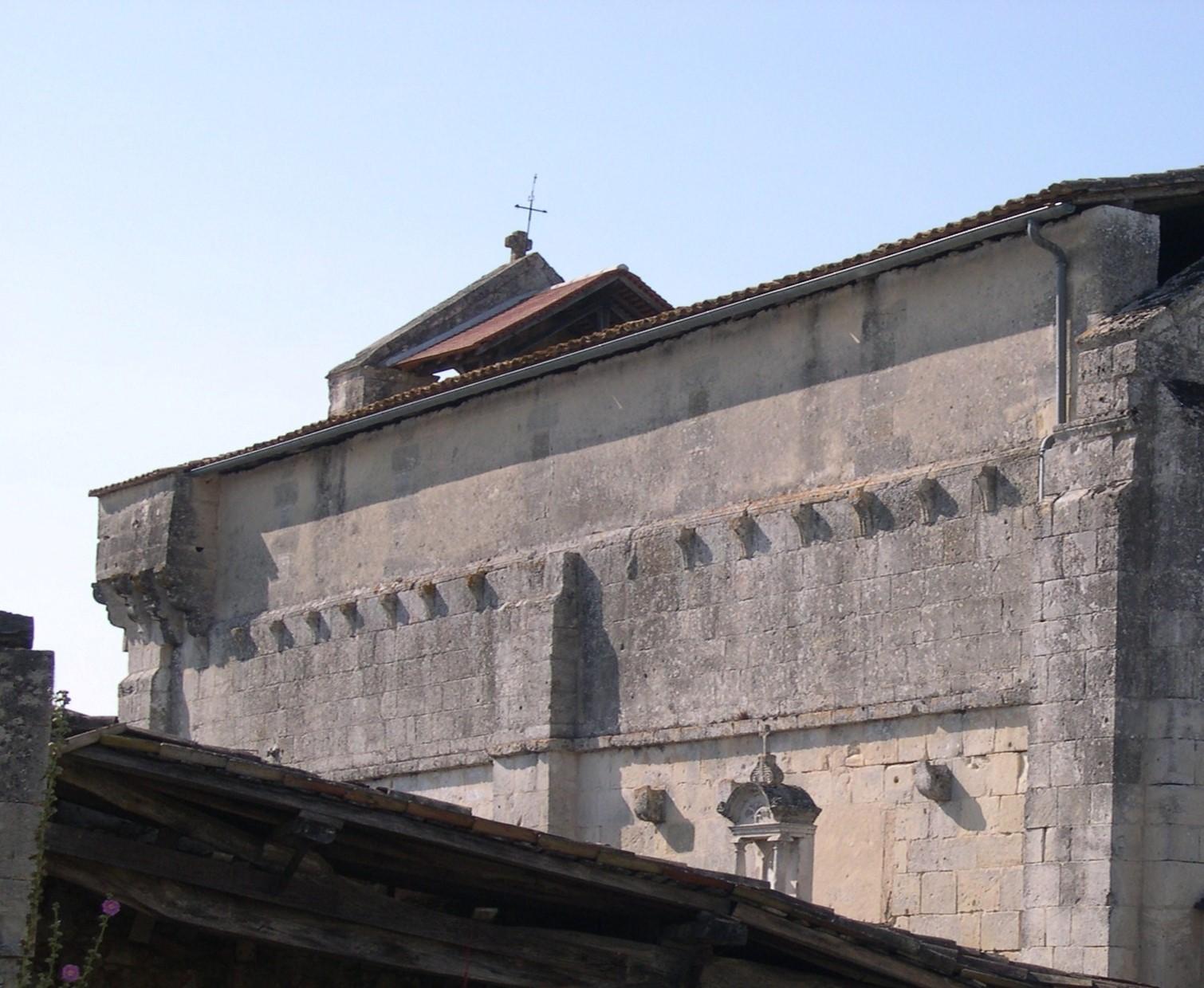 Mur sud avant restauration